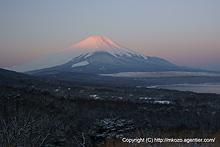 朝焼けはじまる富士 by α700