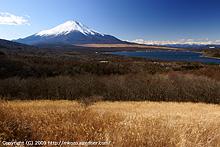 富士山と青い地球