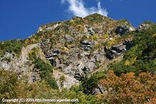紅葉の明神岳(2009)