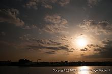 黄昏の東扇島西公園へ