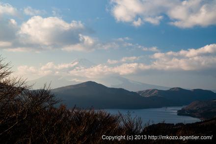 箱根天閣台から富士山を望む